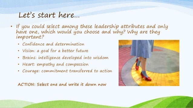 the important lessons to be learned in the wizard of oz This presentation examines leadership through the lens of l frank baum's 'the wonderful wizard of oz' the reader will learn that a leader's success is depend insist on work/life balance – such as taking time for self-care and grooming before meeting the wizard of oz for the first time 5 share the.