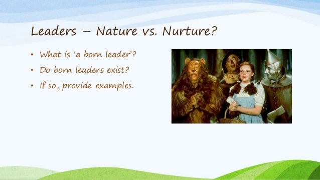 leaders are born not made