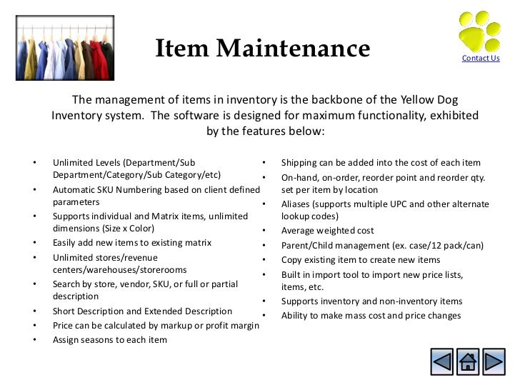 Yellow Dog Software Inventory Management