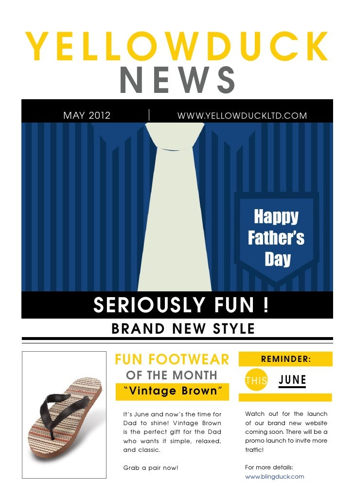 YELLOWDUCK            NEWS MAY 2012                     WWW.YELLOWDUCKLTD.COM      SERIOUSLY FUN !            B R A ND NEW...