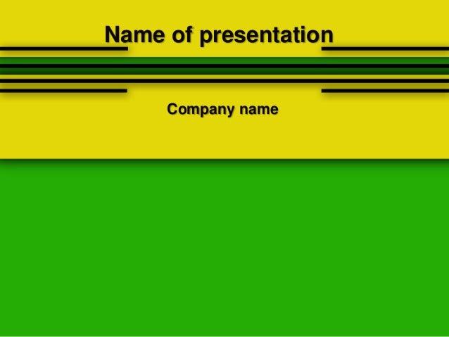 Yellow green powerpoint template yellow green powerpoint template name of presentation company name toneelgroepblik Choice Image