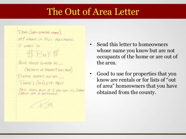 Yellow Letter Manual Explanation