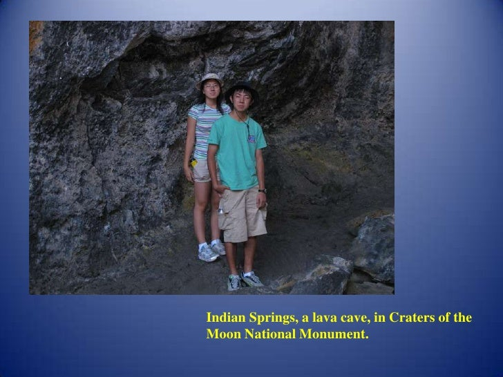 Indian Springs, a lava cave, in Craters of the Moon National Monument.<br />