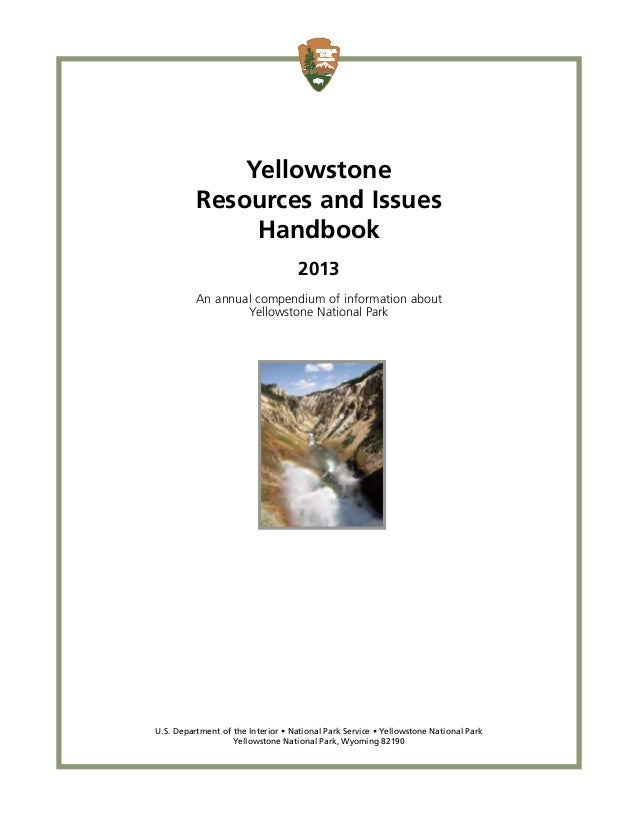 Natural Resources In Yellowstone National Park