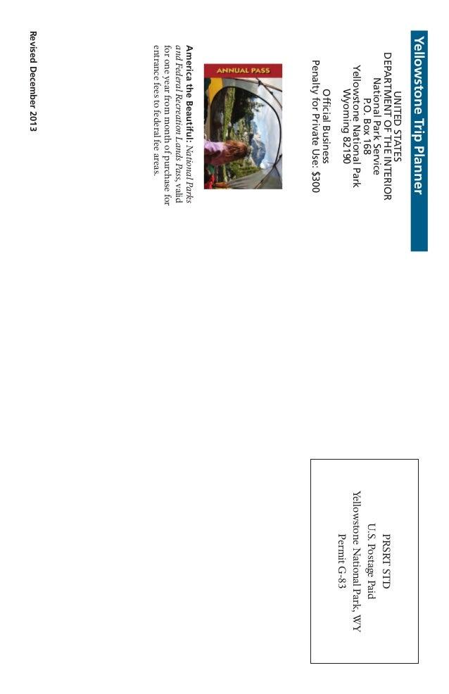 Nostalgicoutdoors yellowstone national park trip planner 16 reviseddecember2013 yellowstonetripplanner unitedstates departmentoftheinterior nationalparkservice pox168 yellowstonenationalpark publicscrutiny Image collections