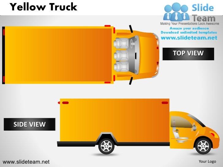 Yellow Truck                    TOP VIEW   SIDE VIEWwww.slideteam.net         Your Logo