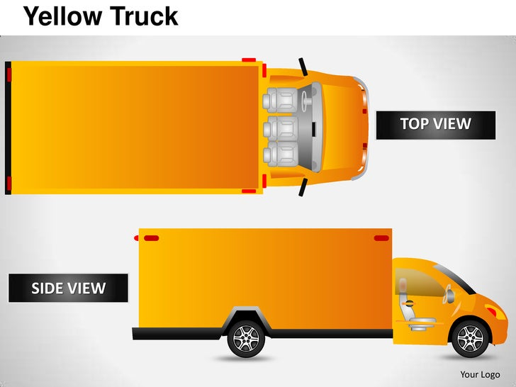 Yellow Truck               TOP VIEWSIDE VIEW                     Your Logo