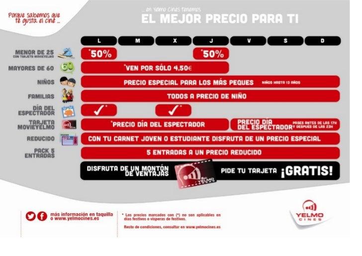 Precios y promociones yelmo cines albacete for Cines arenys precios