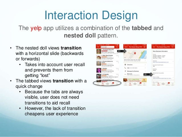 Examining the yelp mobile app