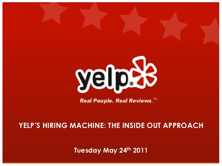 Jobvite Webcast: Yelp's presentation