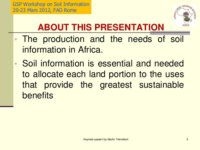 Status and needs of soil information in africa martin for All about soil facts