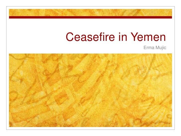 Ceasefire in Yemen<br />Erma Mujic<br />