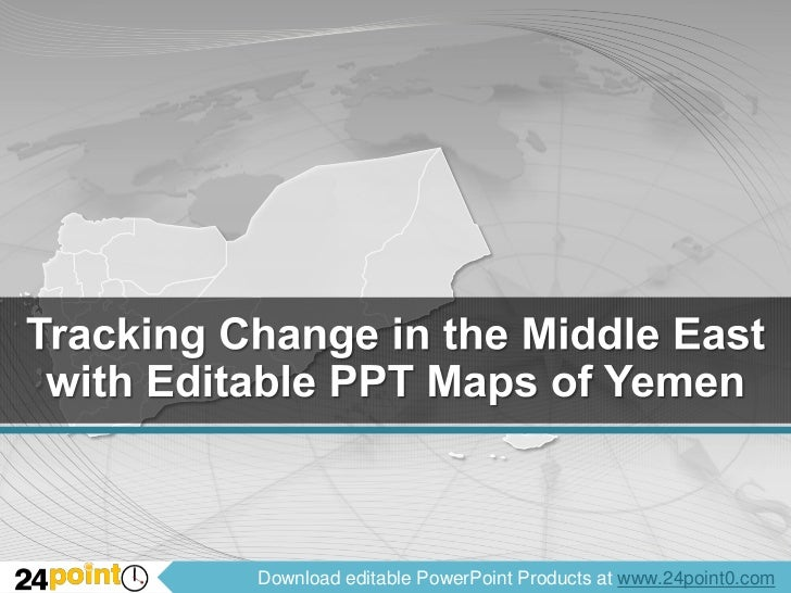 Tracking Change in the Middle East with Editable PPT Maps of Yemen<br />