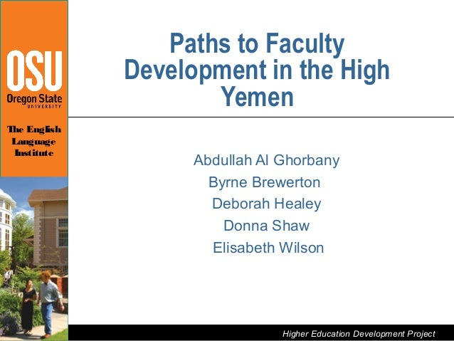Paths to Faculty                       Development in the High                              YemenThe English Language     ...