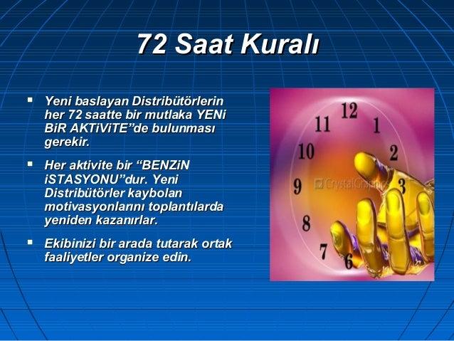 72 Saat Kuralı72 Saat Kuralı  Yeni baYeni basslayan Distribütörlerinlayan Distribütörlerin her 72 saatte bir mutlaka YENh...