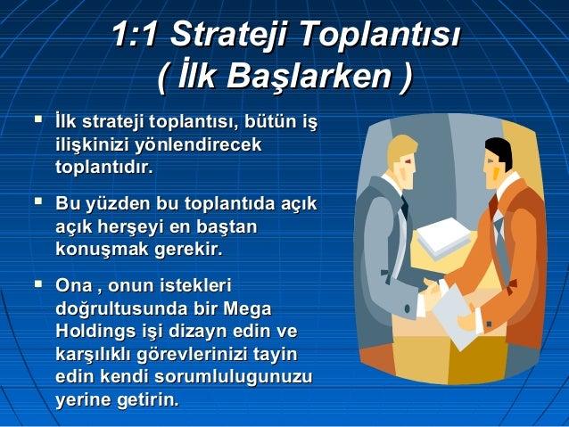 1:1 Strateji Toplantısı1:1 Strateji Toplantısı ( İlk Başlarken )( İlk Başlarken )  İlk strateji toplantısı, bütün işİlk s...