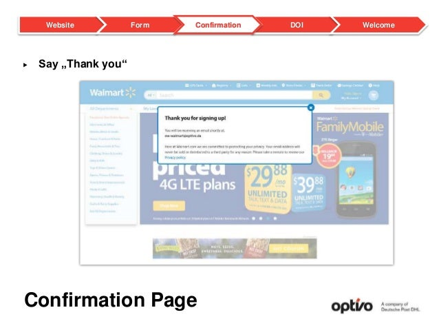 """Confirmation Page  Say """"Thank you"""" DOI WelcomeWebsite Form Confirmation"""