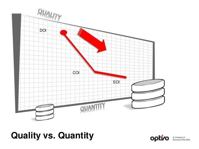 Quality vs. Quantity DOI COI SOI