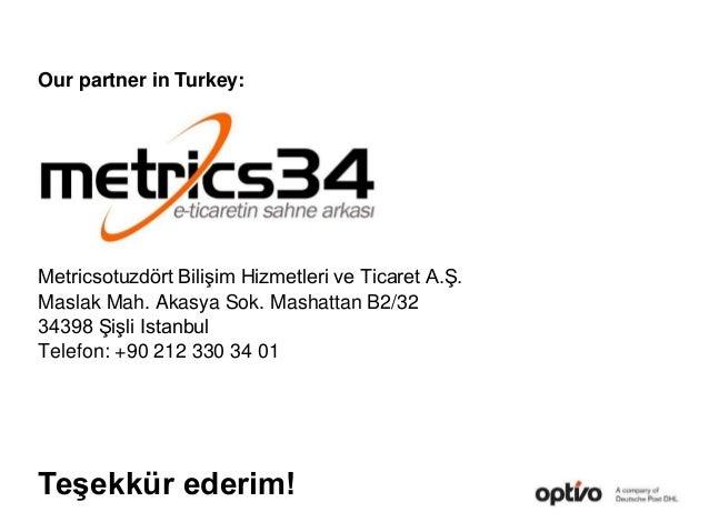 Metricsotuzdört Bilişim Hizmetleri ve Ticaret A.Ş. Maslak Mah. Akasya Sok. Mashattan B2/32 34398 Şişli Istanbul Telefon: +...