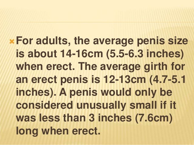 Considered a big be is what penis to 21 Women