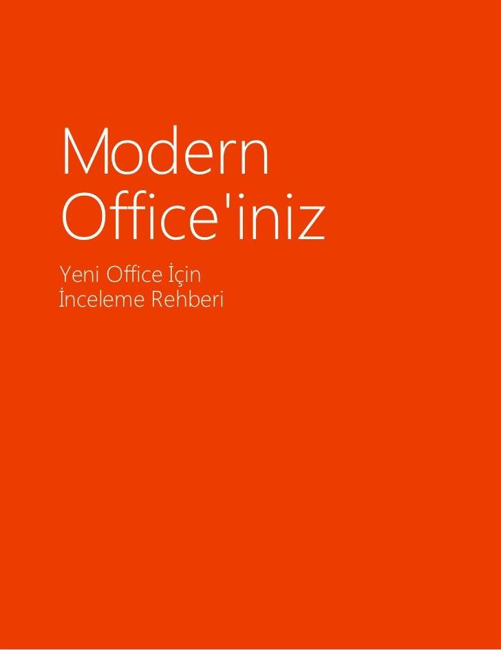 ModernOfficeinizYeni Office İçinİnceleme Rehberi
