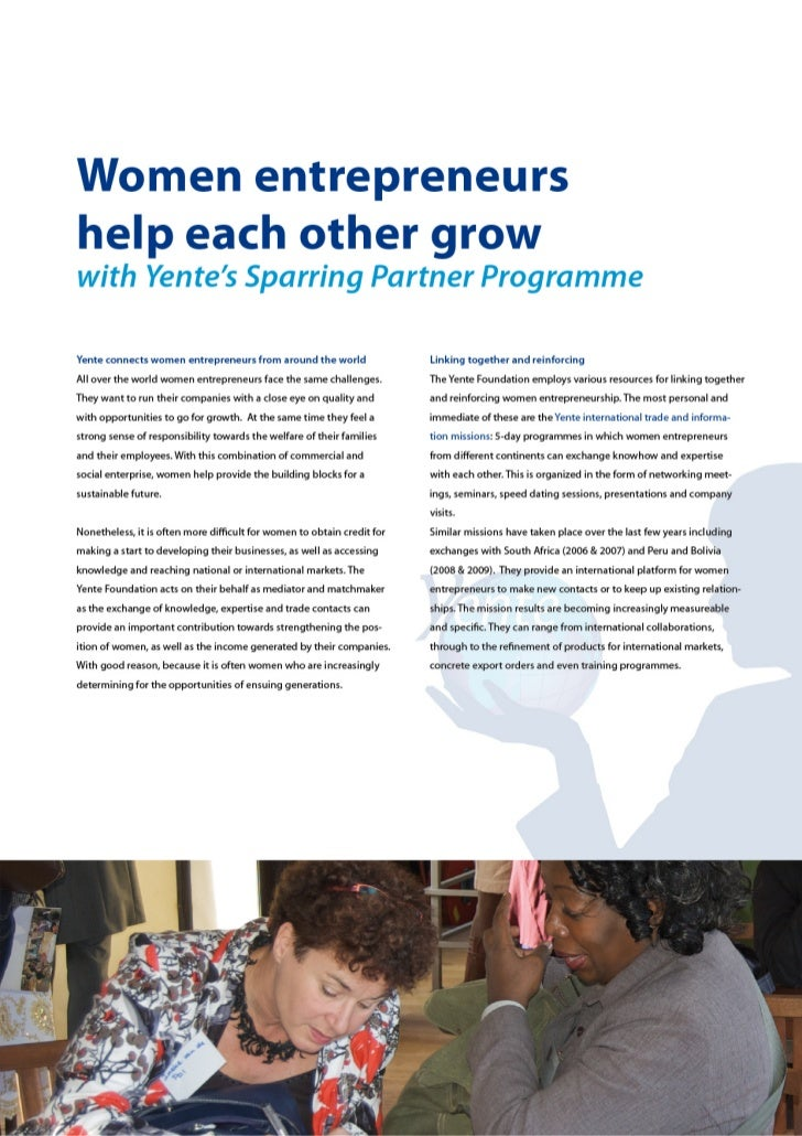 Women entrepeneurs help each other grow with Yente's Sparring Partner Programme
