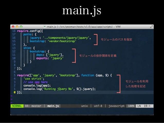 app.js モジュールの処理を記述