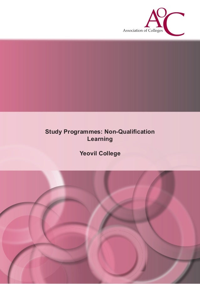 Study Programmes: Non-Qualification Learning Yeovil College