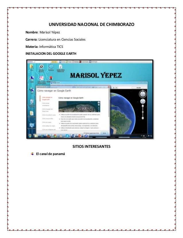 UNIVERSIDAD NACIONAL DE CHIMBORAZO Nombre: Marisol Yépez Carrera: Licenciatura en Ciencias Sociales Materia: Informática T...