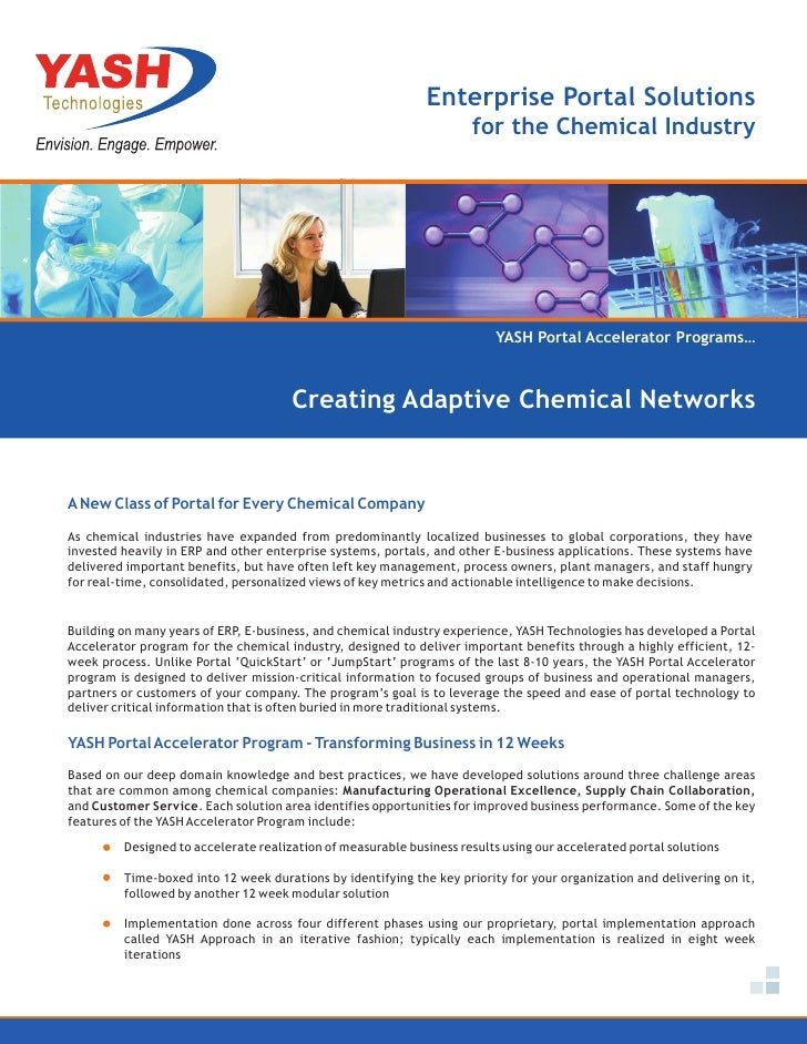 Enterprise Portal Solutions                                                                     for the Chemical Industry ...