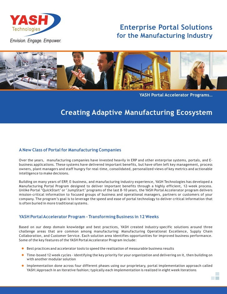 Enterprise Portal Solutions                                                            for the Manufacturing Industry     ...
