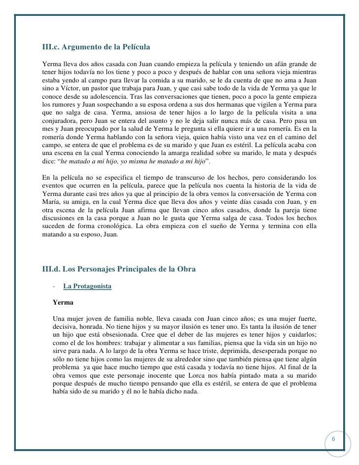 analisis of yerma Lar, como bodas de sangre, yerma y la casa de bernarda alba entre sus   posterior a la lectura, los símbolos de la obra y para enriquecer el análisis  trabajar.