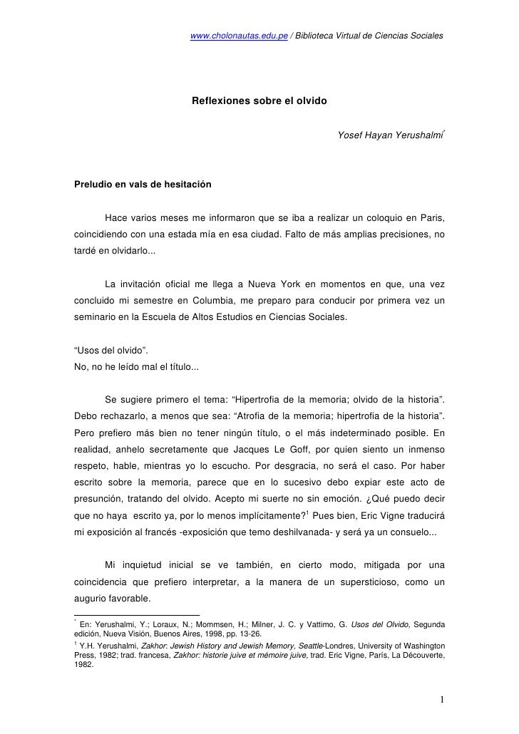 www.cholonautas.edu.pe / Biblioteca Virtual de Ciencias Sociales                                       Reflexiones sobre e...