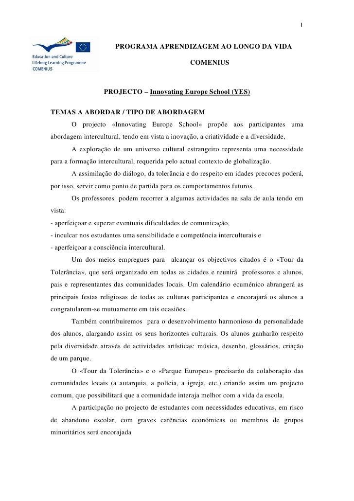 1                          PROGRAMA APRENDIZAGEM AO LONGO DA VIDA                                                   COMENI...