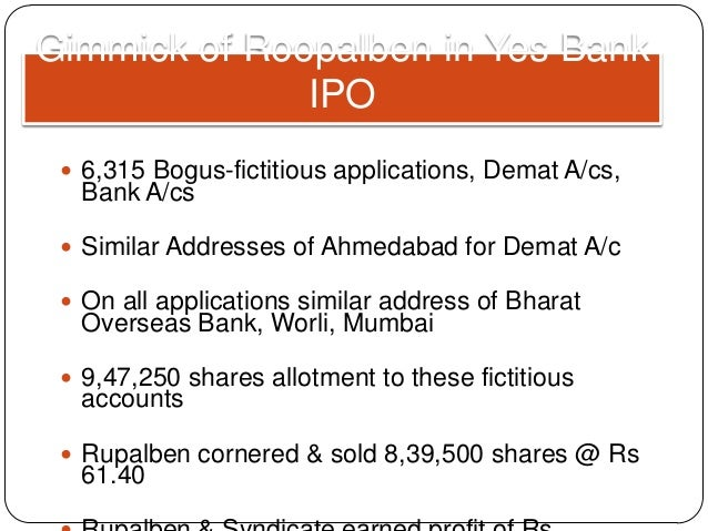 Yes bank ipo apply online