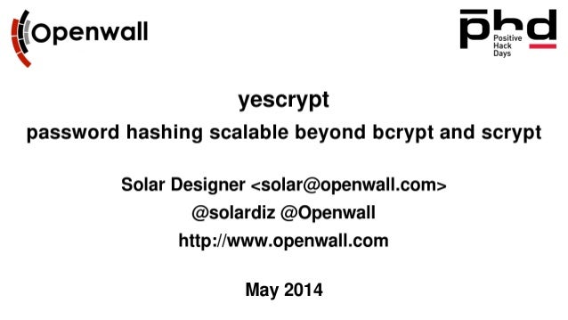 Yescrypt – Password Hashing Beyond Bcrypt and Scrypt