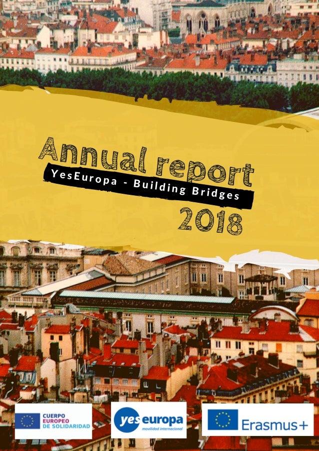Annual reportY e s E u r o p a - B u i l d i n g B r i d g e s 2018