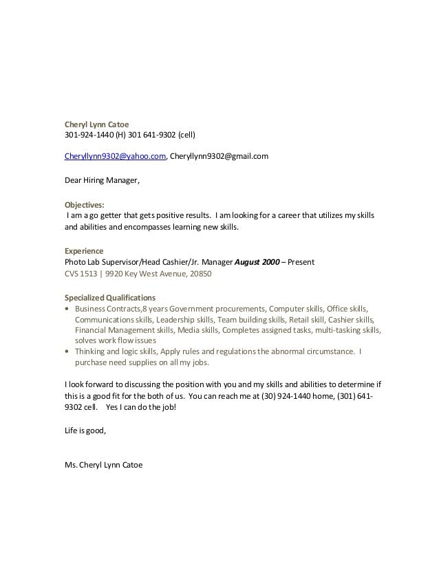 Home Purchase Cover Letter