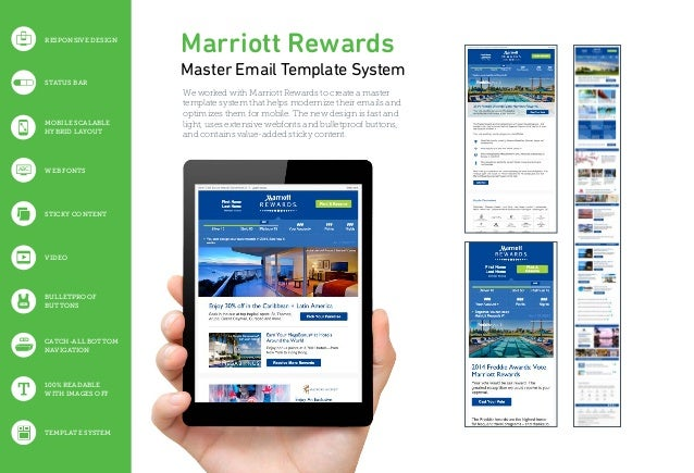 Marriott Rewards Master Email Template System We worked with Marriott Rewards to create a master template system that help...