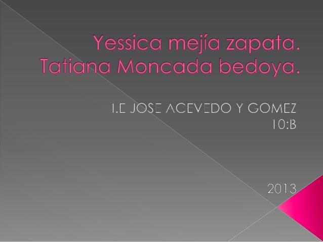  YESSICA:ME MOLESTA LA GENTE  HIPOCRITA ,Y LA QUE DISCRIMINA. TATIANA:ME MOLESTA LA GENTE  HIPOCRITA QUE LE HABLA UN DIA...