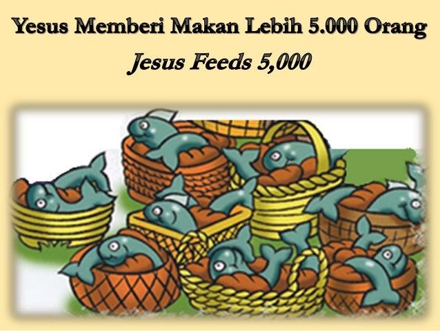 Yesus pergi naik perahu. Dia mau pergi ke tempat sepi, tetapi orang banyak mendengar bahwa Dia telah pergi. Kemudian merek...