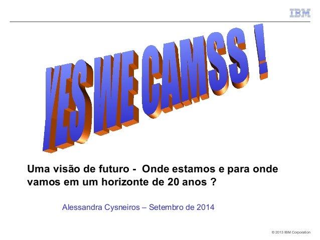 Uma visão de futuro - Onde estamos e para onde  vamos em um horizonte de 20 anos ?  © 2013 IIBBMM CCoorrppoorraattiioonn  ...