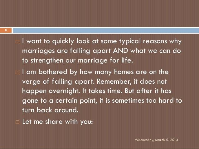 How to know when your marriage is falling apart