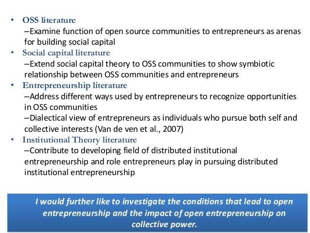 Entrepreneurship dissertation