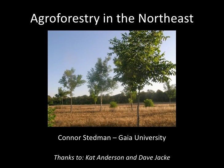 Agroforestry in the Northeast - Young Farmers Conference 2010