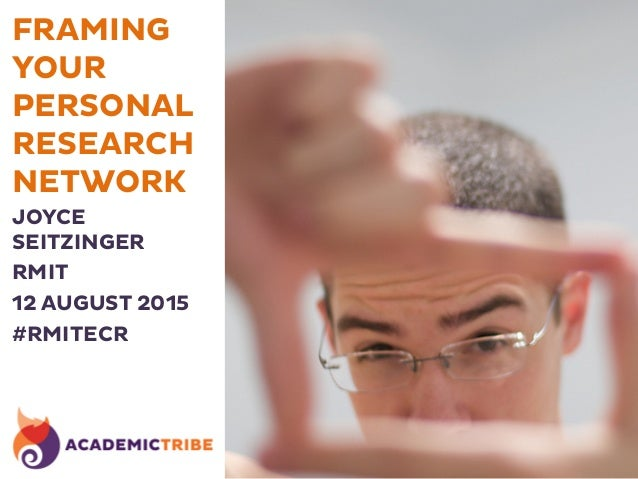 FRAMING YOUR PERSONAL RESEARCH NETWORK JOYCE SEITZINGER RMIT 12 AUGUST 2015 #RMITECR