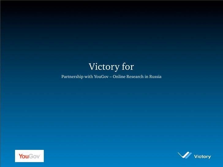 Victory for Partnership with YouGov – Online Research in Russia