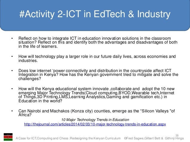 Innovative Classroom Practices Using Ict In England ~ A case for ict computing and chess redesigning the kenyan