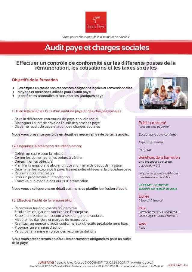 Votre partenaire expert de la rémunération salariale  Audit paye et charges sociales  Effectuer un contrôle de conformité ...