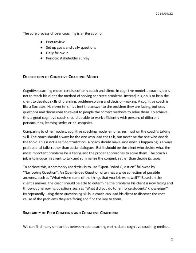 coaching model essay 2